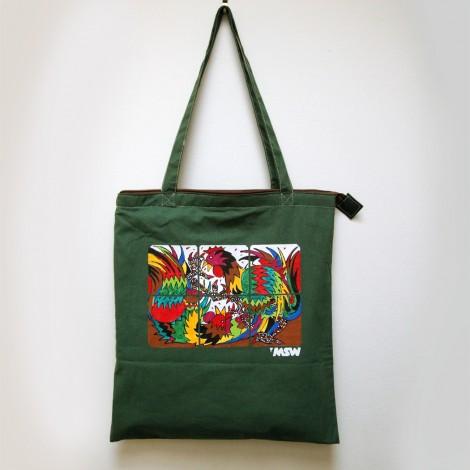 Shopping bag cock-fighting